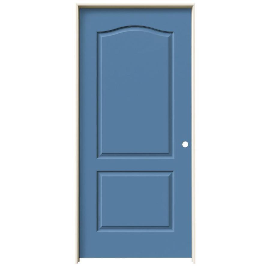 JELD-WEN Princeton Blue Heron Single Prehung Interior Door (Common: 36-in x 80-in; Actual: 37.562-in x 81.688-in)