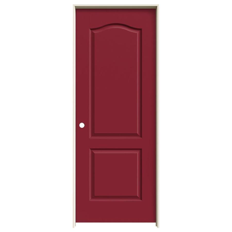 JELD-WEN Barn Red 2-panel Arch Top Single Prehung Interior Door (Common: 32-in x 80-in; Actual: 33.5620-in x 81.6880-in)