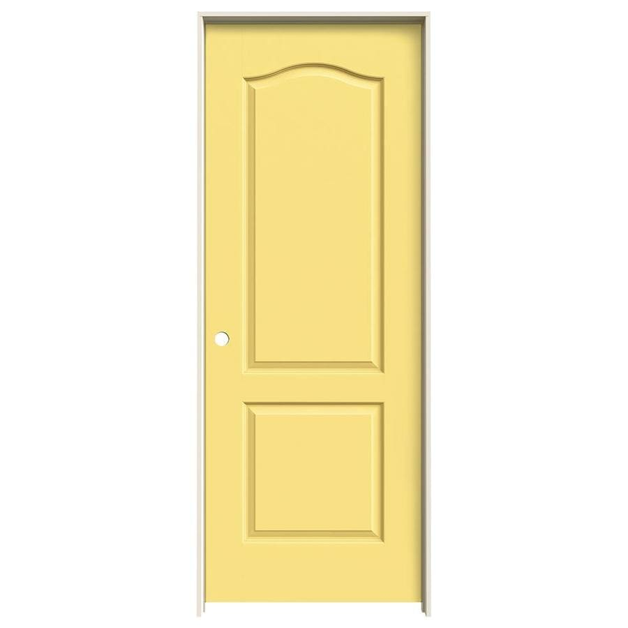JELD-WEN Marigold Prehung Hollow Core 2-Panel Arch Top Interior Door (Common: 24-in x 80-in; Actual: 25.562-in x 81.688-in)