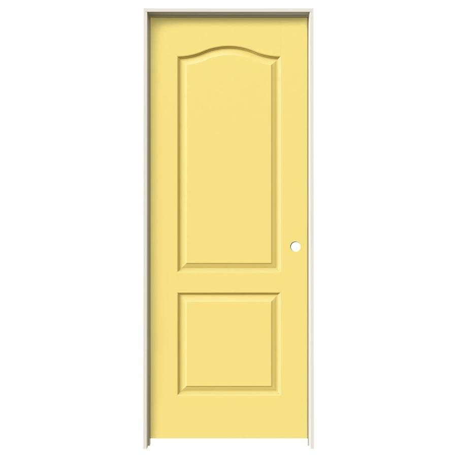 JELD-WEN Marigold Prehung Hollow Core 2-Panel Arch Top Interior Door (Common: 32-in x 80-in; Actual: 33.562-in x 81.688-in)