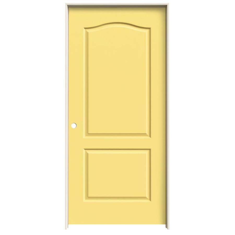 JELD-WEN Marigold Prehung Hollow Core 2-Panel Arch Top Interior Door (Common: 36-in x 80-in; Actual: 37.562-in x 81.688-in)