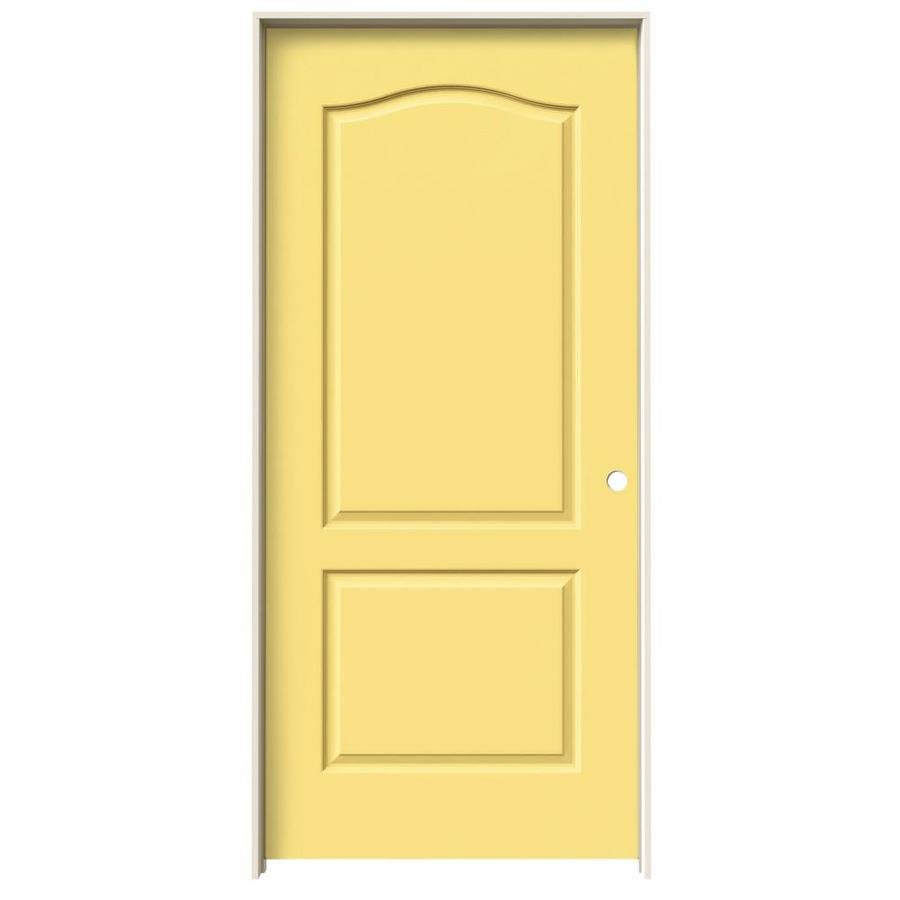 Shop Jeld Wen Marigold 2 Panel Arch Top Single Prehung Interior Door Common 36 In X 80 In