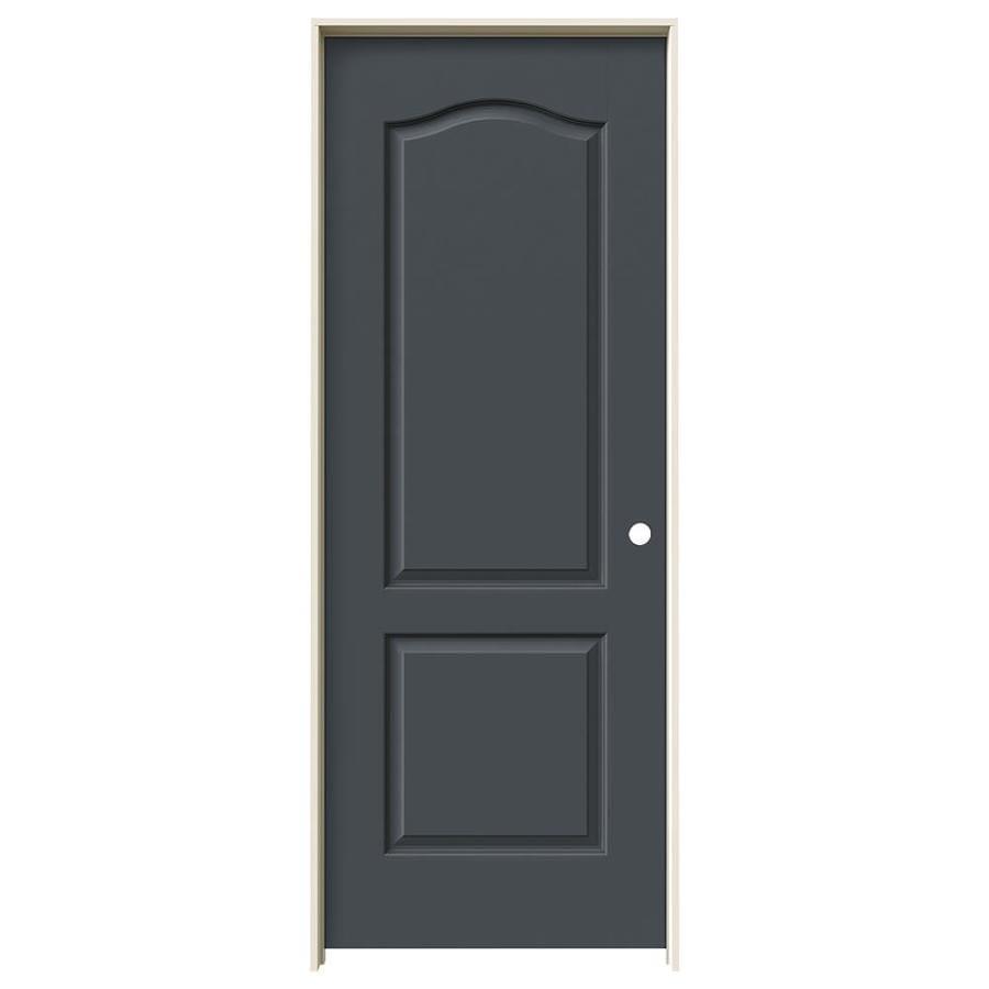 JELD-WEN Slate Prehung Hollow Core 2-Panel Arch Top Interior Door (Common: 24-in x 80-in; Actual: 25.562-in x 81.688-in)