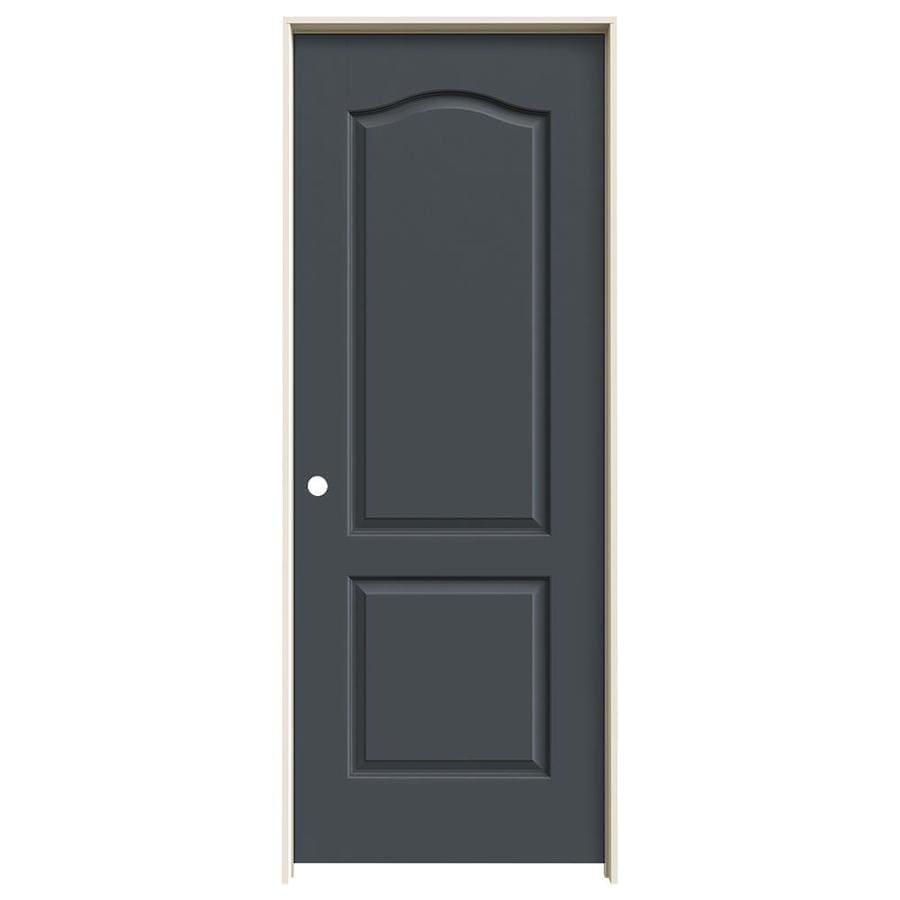 JELD-WEN Slate Prehung Hollow Core 2-Panel Arch Top Interior Door (Common: 30-in x 80-in; Actual: 31.562-in x 81.688-in)