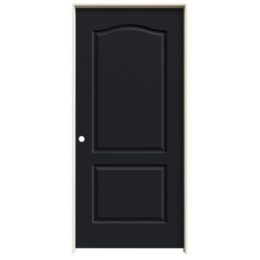 JELD-WEN Midnight 2-panel Arch Top Single Prehung Interior Door (Common: 36-in x 80-in; Actual: 37.562-in x 81.688-in)