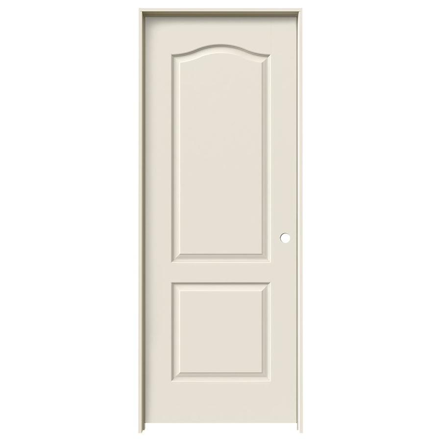 JELD-WEN Princeton Primed Hollow Core Molded Composite Single Prehung Interior Door (Common: 32-in x 80-in; Actual: 33.562-in x 81.688-in)