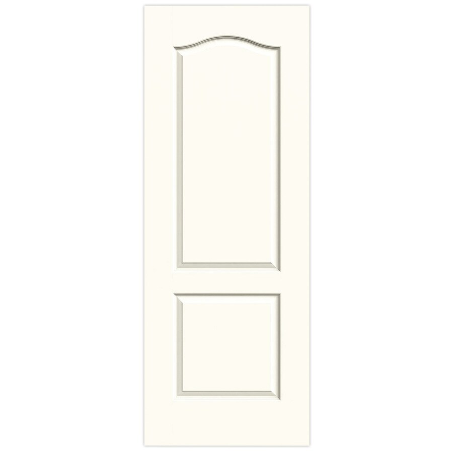 JELD-WEN Princeton White Hollow Core Molded Composite Slab Interior Door (Common: 28-in x 80-in; Actual: 28-in x 80-in)