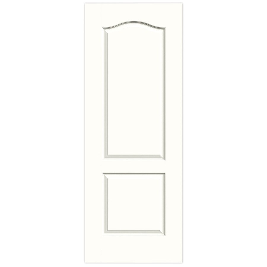 JELD-WEN Snow Storm Hollow Core 2-Panel Arch Top Slab Interior Door (Common: 28-in x 80-in; Actual: 28-in x 80-in)