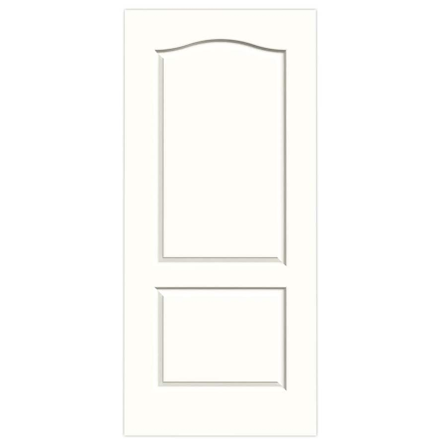 JELD-WEN Snow Storm Hollow Core 2-Panel Arch Top Slab Interior Door (Common: 36-in x 80-in; Actual: 36-in x 80-in)