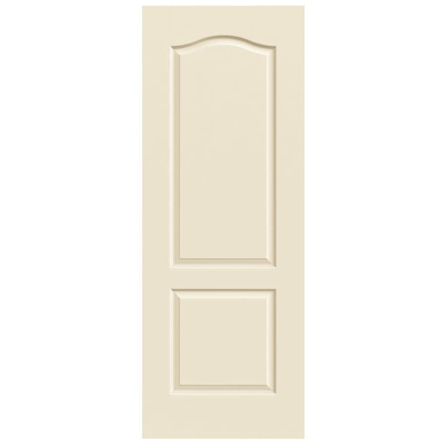 JELD-WEN Princeton Cream-N-Sugar Hollow Core Molded Composite Slab Interior Door (Common: 30-in x 80-in; Actual: 30-in x 80-in)