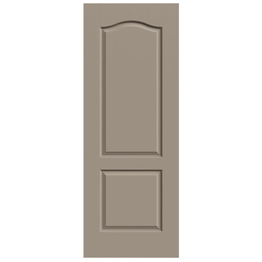 JELD-WEN Sand Piper Hollow Core 2-Panel Arch Top Slab Interior Door (Common: 32-in x 80-in; Actual: 32-in x 80-in)