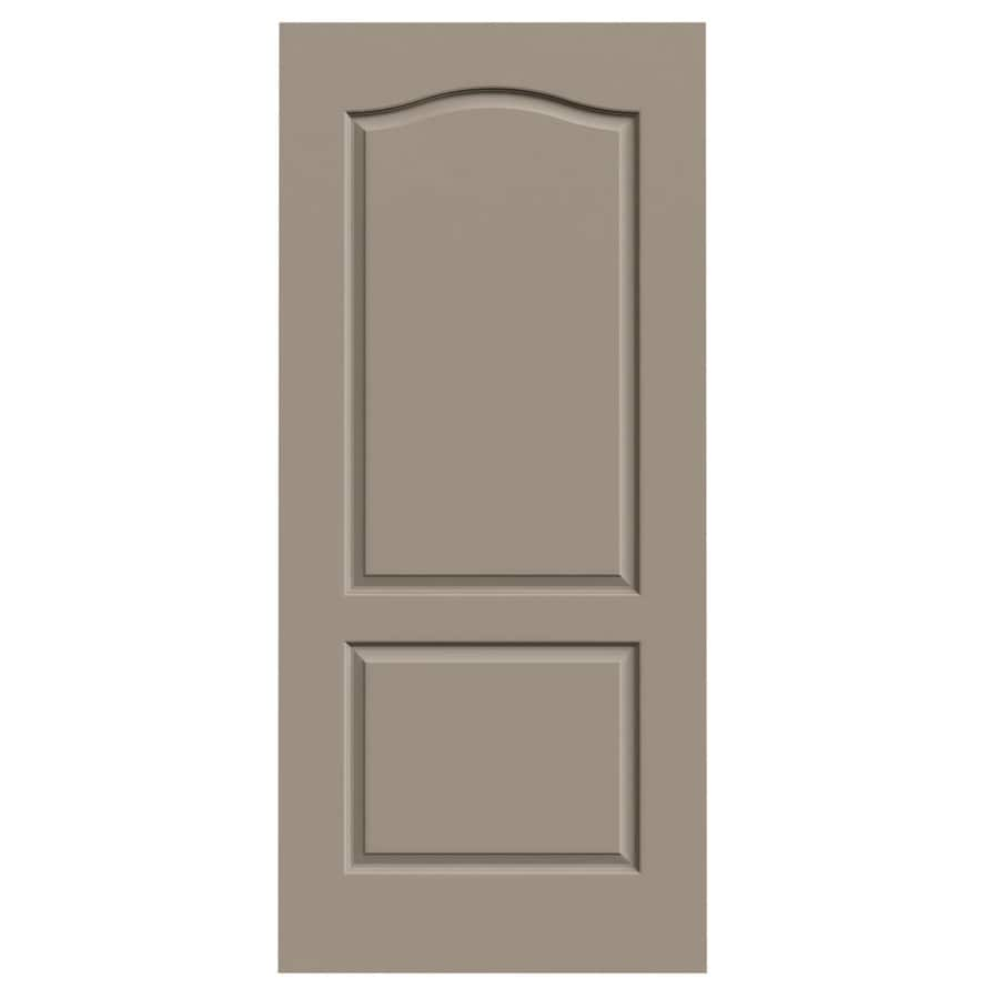Shop jeld wen sand piper hollow core 2 panel arch top slab interior door common 36 in x 80 in for 2 panel arch top interior doors