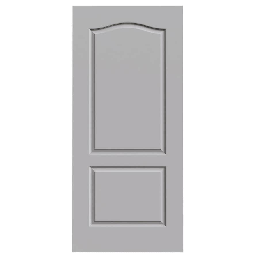JELD-WEN Driftwood 2-panel Arch Top Slab Interior Door (Common: 36-in x 80-in; Actual: 36-in x 80-in)
