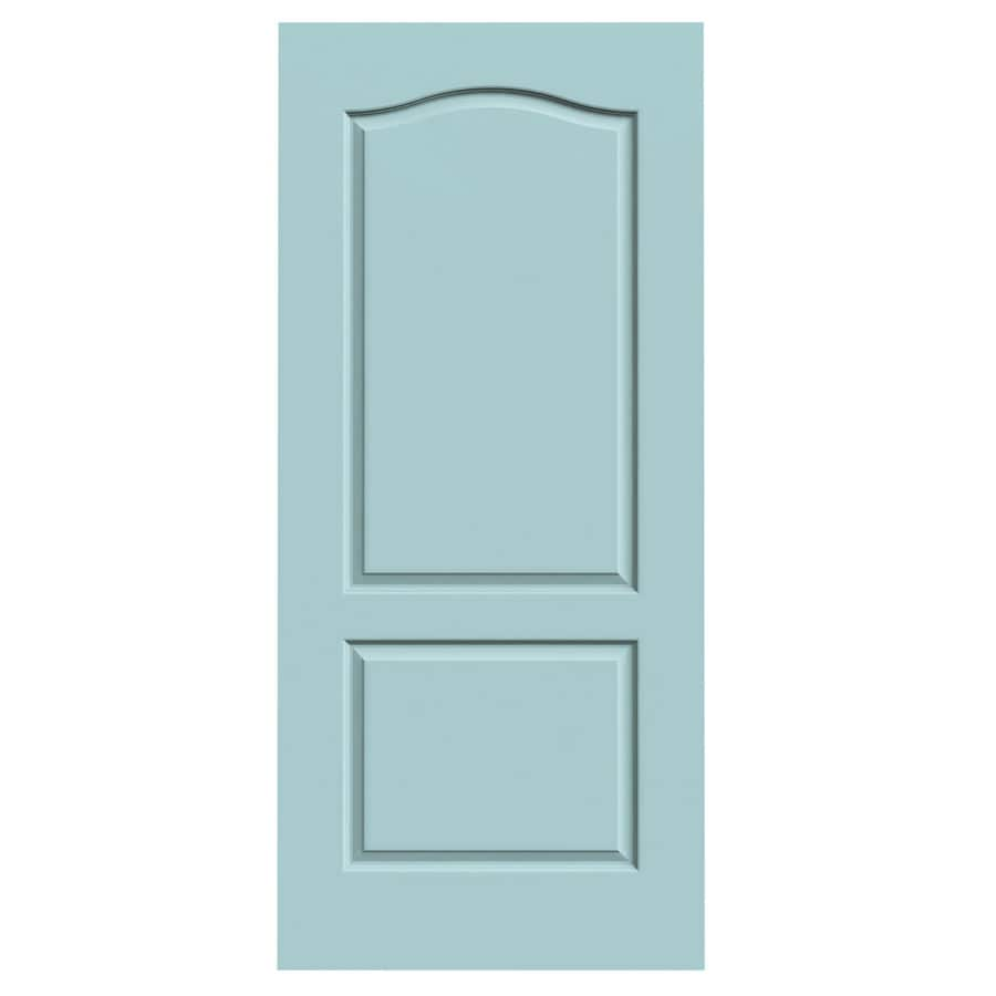 JELD-WEN Sea Mist Hollow Core 2-Panel Arch Top Slab Interior Door (Common: 36-in x 80-in; Actual: 36-in x 80-in)