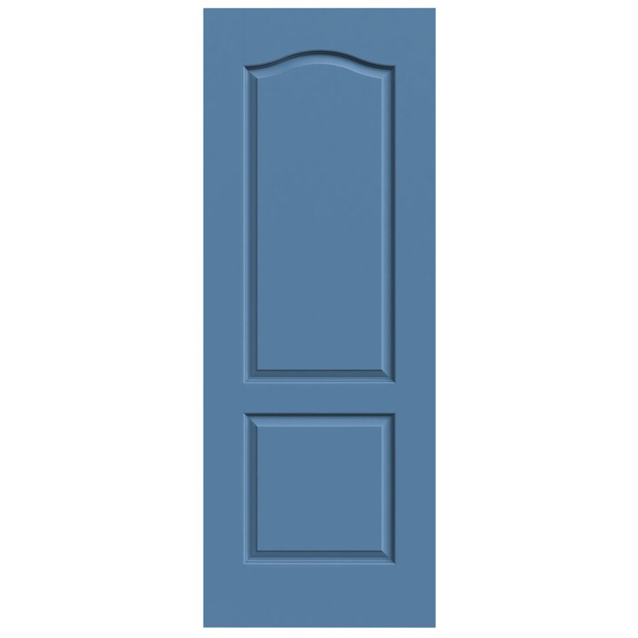 JELD-WEN Blue Heron Hollow Core 2-Panel Arch Top Slab Interior Door (Common: 30-in x 80-in; Actual: 30-in x 80-in)