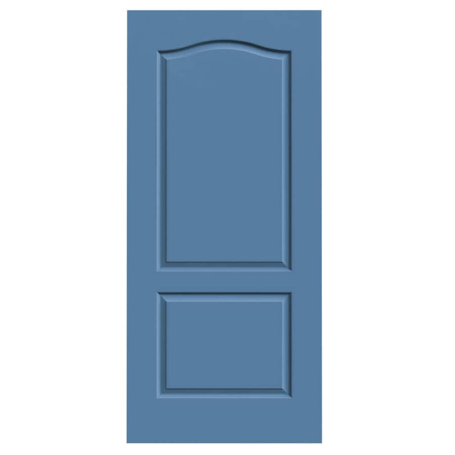 JELD-WEN Princeton Blue Heron Hollow Core Molded Composite Slab Interior Door (Common: 36-in x 80-in; Actual: 36-in x 80-in)