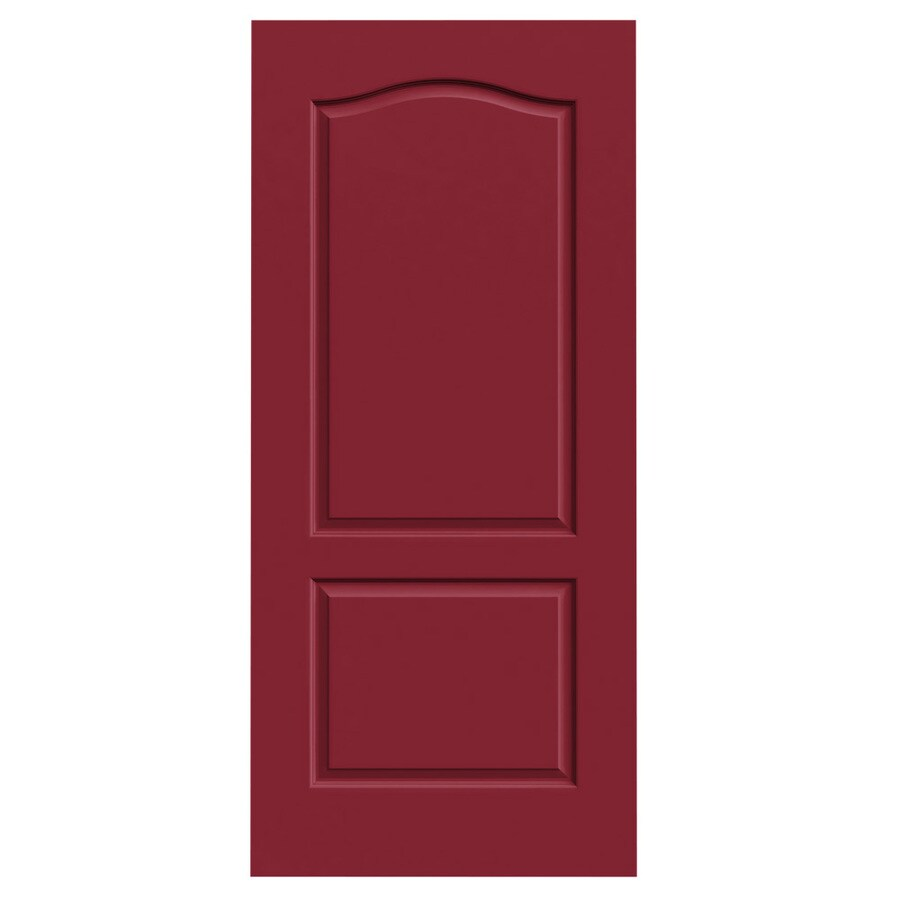 JELD-WEN Barn Red Hollow Core 2-Panel Arch Top Slab Interior Door (Common: 36-in x 80-in; Actual: 36-in x 80-in)
