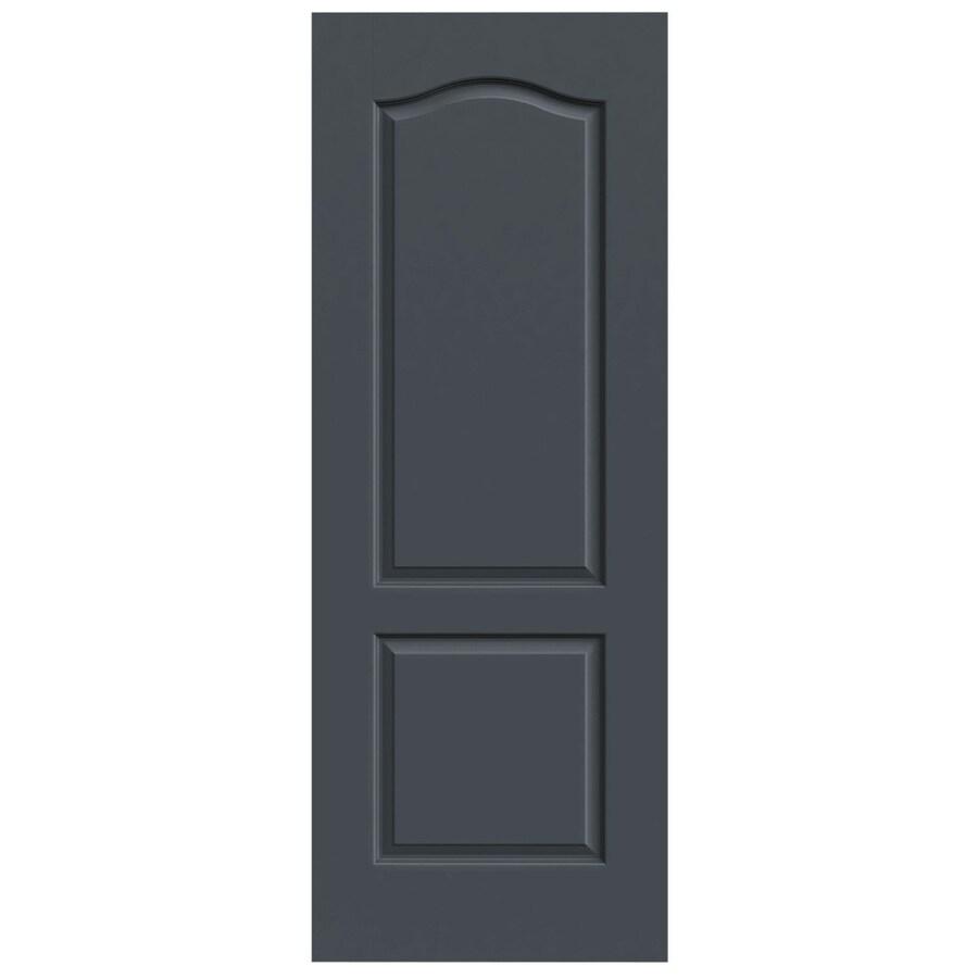 JELD-WEN Slate Hollow Core 2-Panel Arch Top Slab Interior Door (Common: 24-in x 80-in; Actual: 24-in x 80-in)