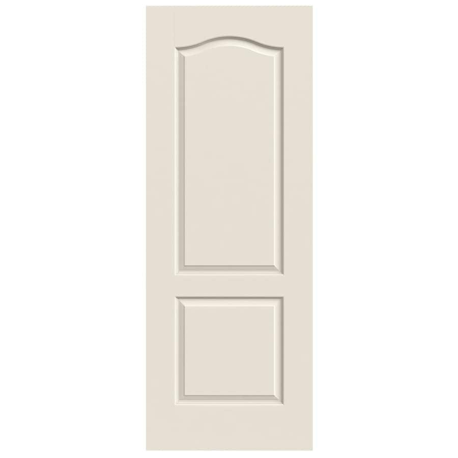 Shop jeld wen princeton primed 2 panel arch top hollow core molded composite slab door common for 2 panel arch top interior doors