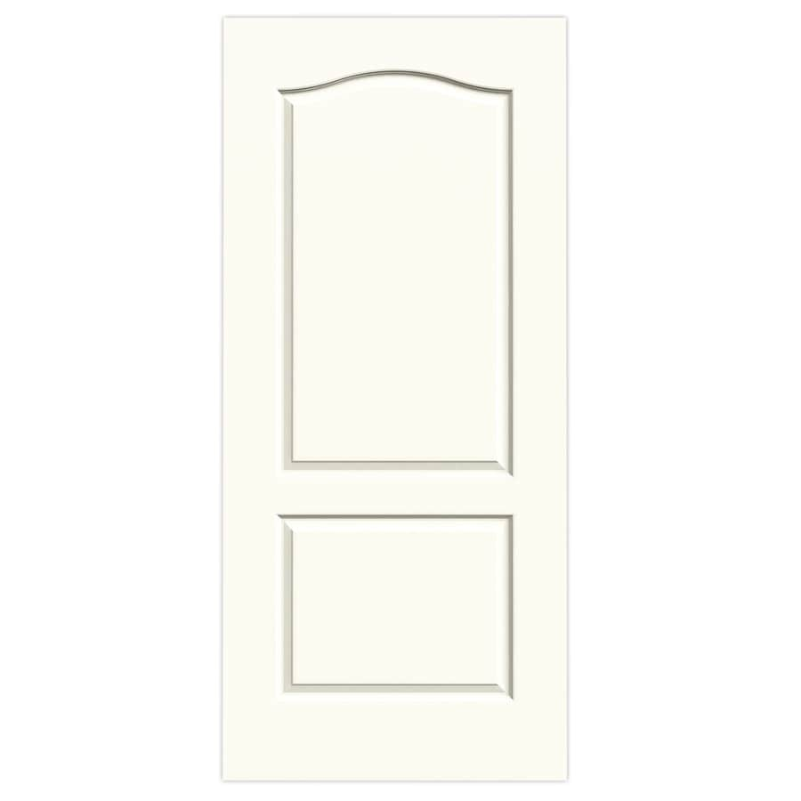 JELD-WEN White 2-panel Arch Top Slab Interior Door (Common: 36-in x 80-in; Actual: 36-in x 80-in)