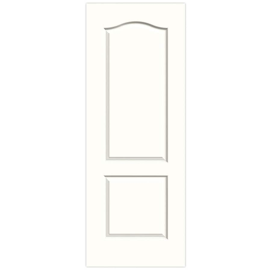 JELD-WEN Snow Storm Solid Core 2-Panel Arch Top Slab Interior Door (Common: 28-in x 80-in; Actual: 28-in x 80-in)