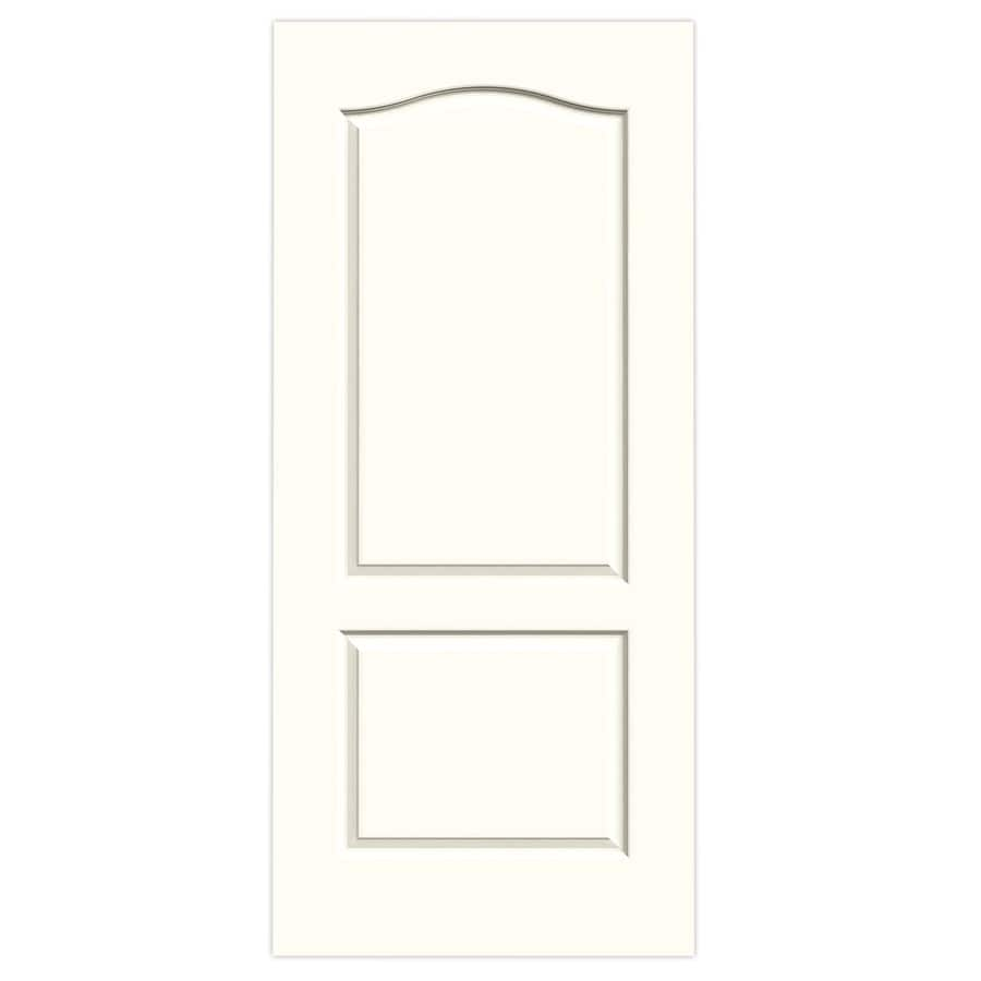 JELD-WEN Moonglow Solid Core 2-Panel Arch Top Slab Interior Door (Common: 36-in x 80-in; Actual: 36-in x 80-in)