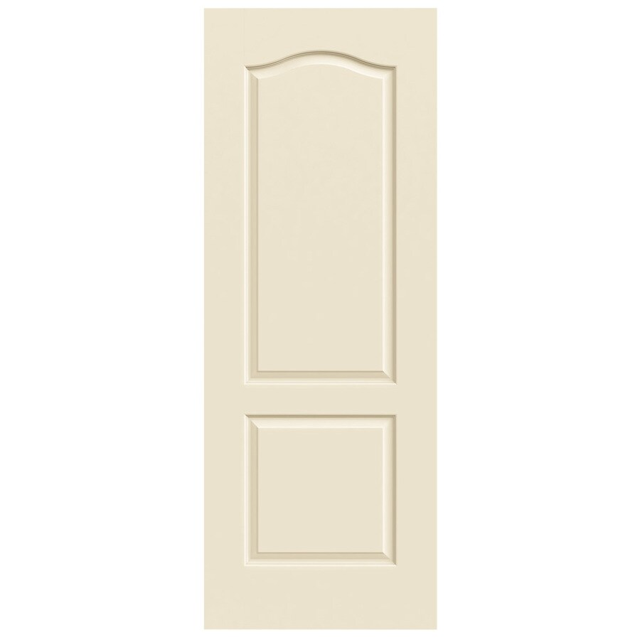 JELD-WEN Cream-N-Sugar Solid Core 2-Panel Arch Top Slab Interior Door (Common: 24-in x 80-in; Actual: 24-in x 80-in)