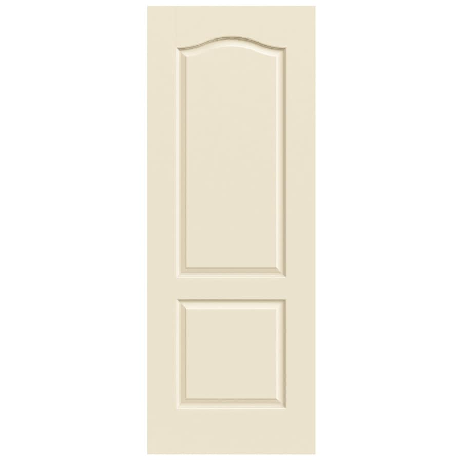 JELD-WEN Cream-N-Sugar Solid Core 2-Panel Arch Top Slab Interior Door (Common: 32-in x 80-in; Actual: 32-in x 80-in)