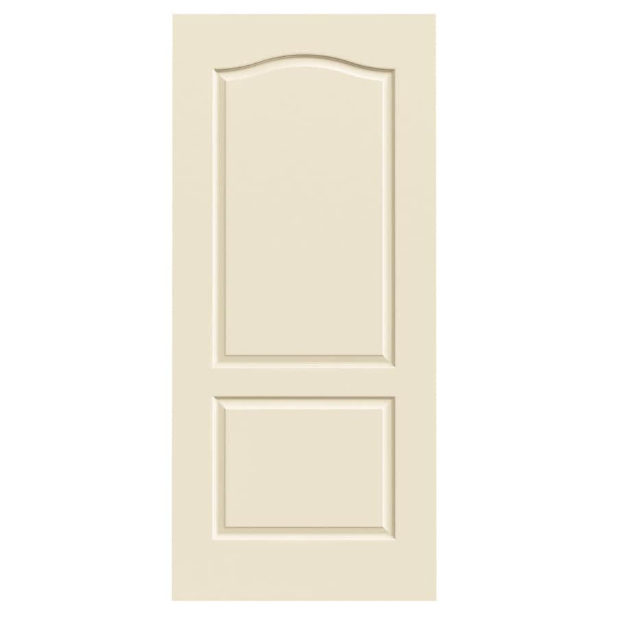 JELD-WEN Cream-N-Sugar Solid Core 2-Panel Arch Top Slab Interior Door (Common: 36-in x 80-in; Actual: 36-in x 80-in)