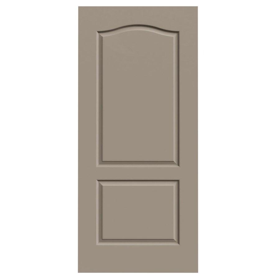 JELD-WEN Sand Piper Solid Core 2-Panel Arch Top Slab Interior Door (Common: 36-in x 80-in; Actual: 36-in x 80-in)