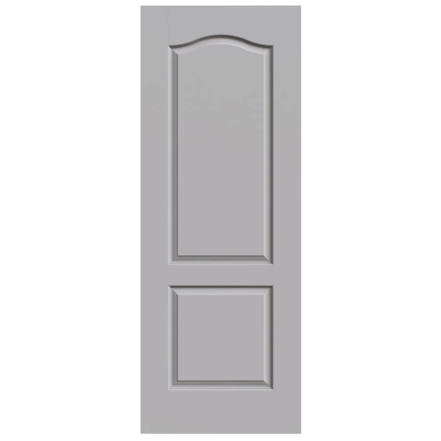 JELD-WEN Driftwood Solid Core 2-Panel Arch Top Slab Interior Door (Common: 24-in x 80-in; Actual: 24-in x 80-in)