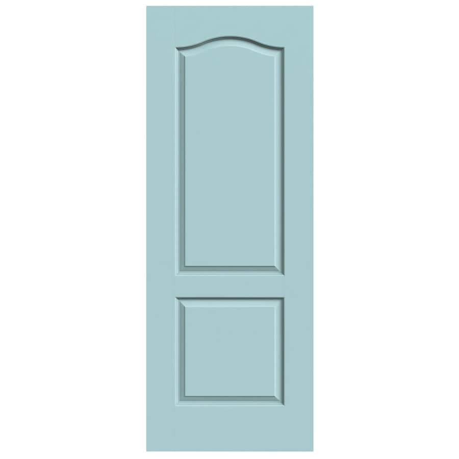 JELD-WEN Sea Mist 2-panel Arch Top Slab Interior Door (Common: 28-in x 80-in; Actual: 28-in x 80-in)