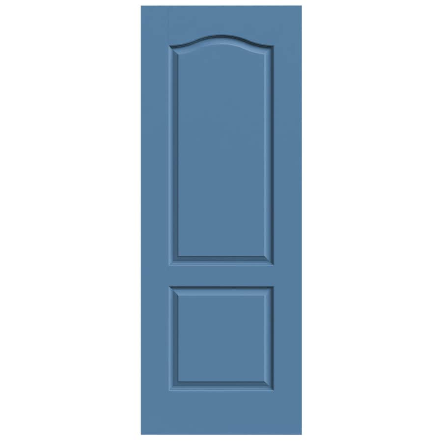 JELD-WEN Blue Heron Solid Core 2-Panel Arch Top Slab Interior Door (Common: 24-in x 80-in; Actual: 24-in x 80-in)
