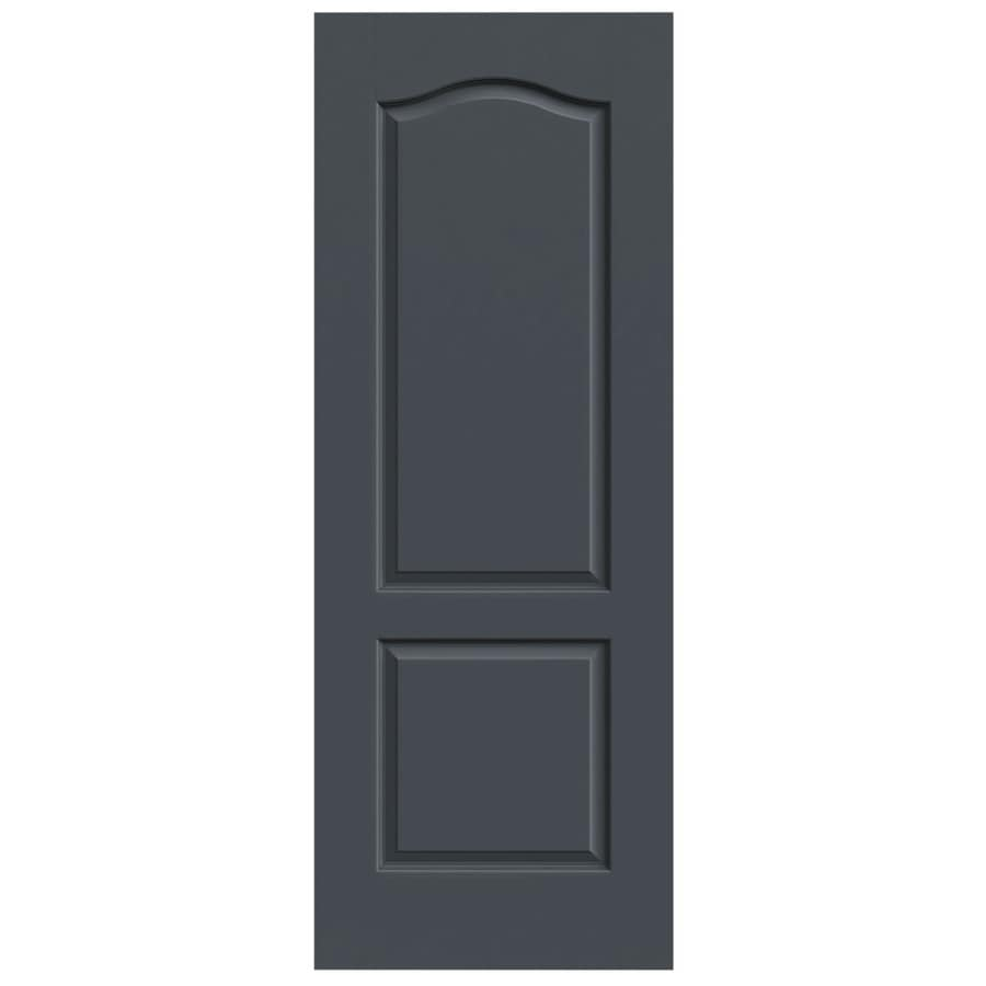 JELD-WEN Slate Solid Core 2-Panel Arch Top Slab Interior Door (Common: 32-in x 80-in; Actual: 32-in x 80-in)