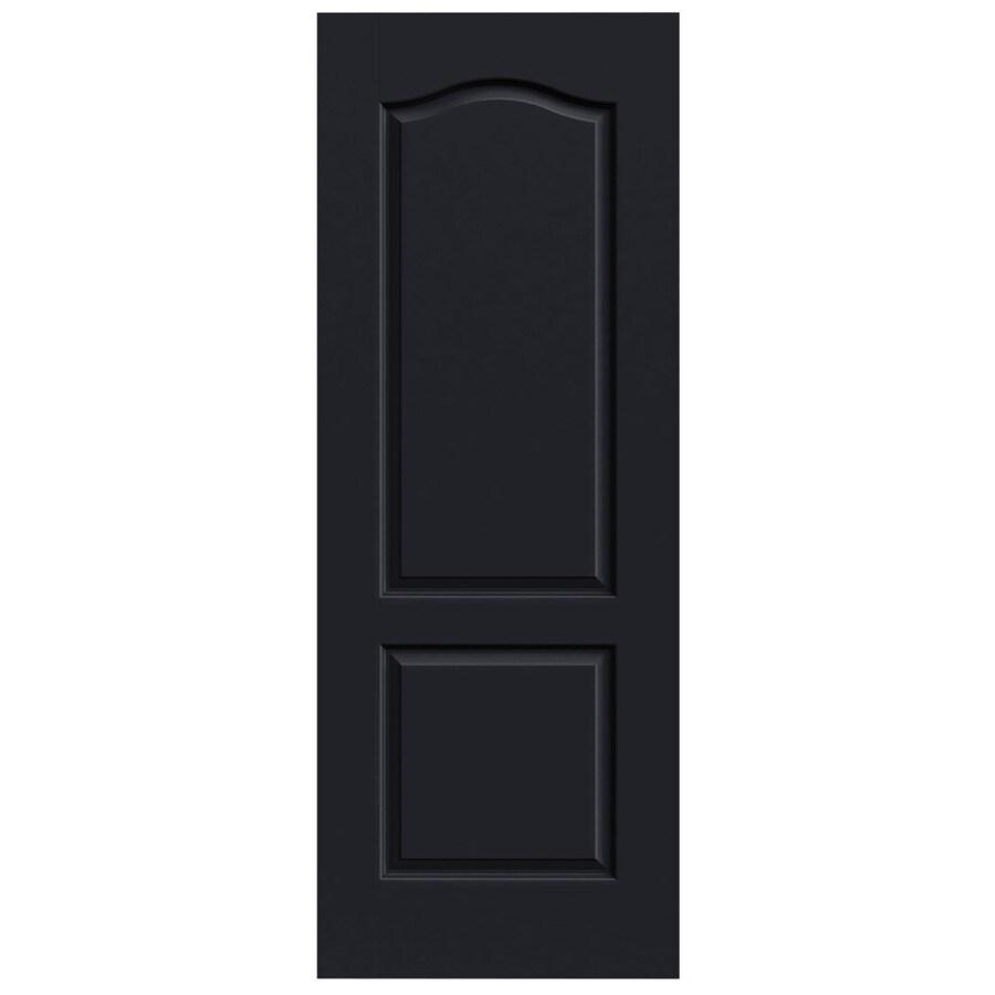 JELD-WEN Midnight Solid Core 2-Panel Arch Top Slab Interior Door (Common: 30-in x 80-in; Actual: 30-in x 80-in)