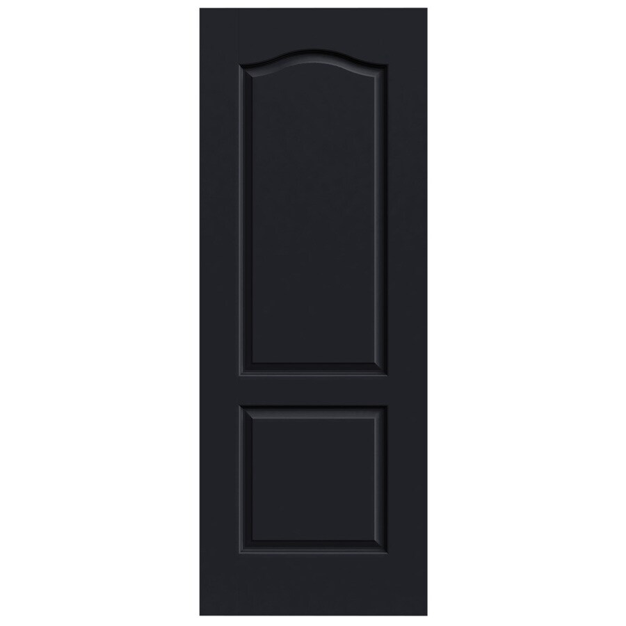 JELD-WEN Midnight Solid Core 2-Panel Arch Top Slab Interior Door (Common: 32-in x 80-in; Actual: 32-in x 80-in)