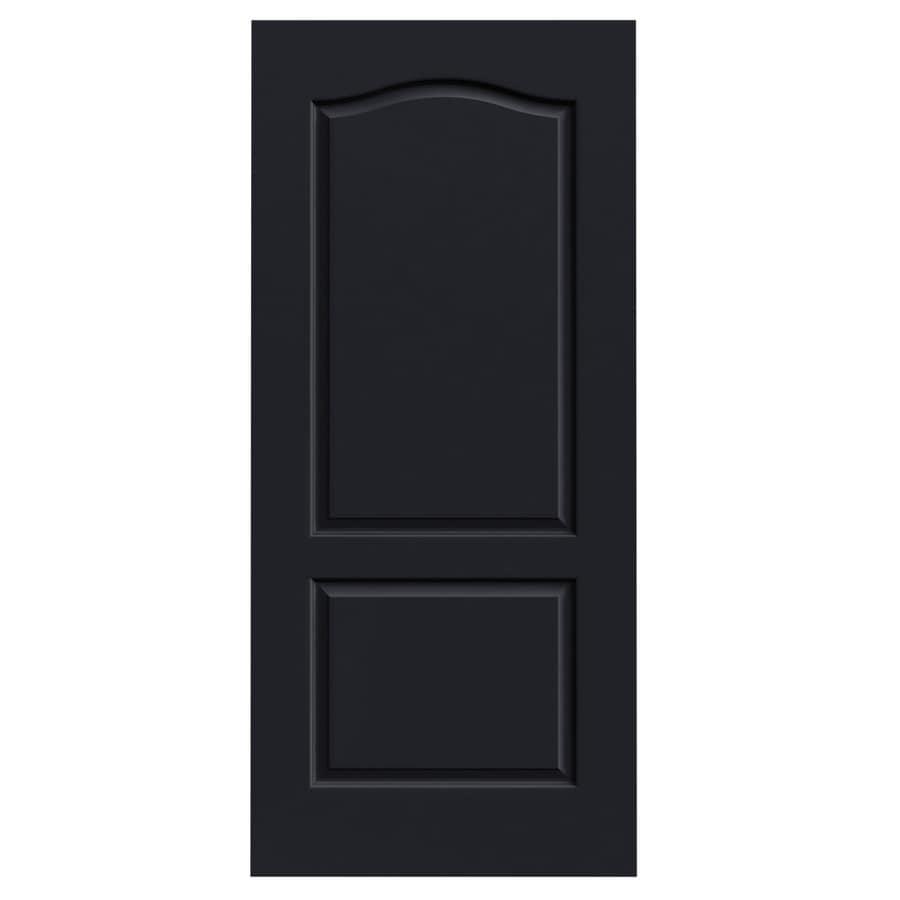 JELD-WEN Midnight Solid Core 2-Panel Arch Top Slab Interior Door (Common: 36-in x 80-in; Actual: 36-in x 80-in)