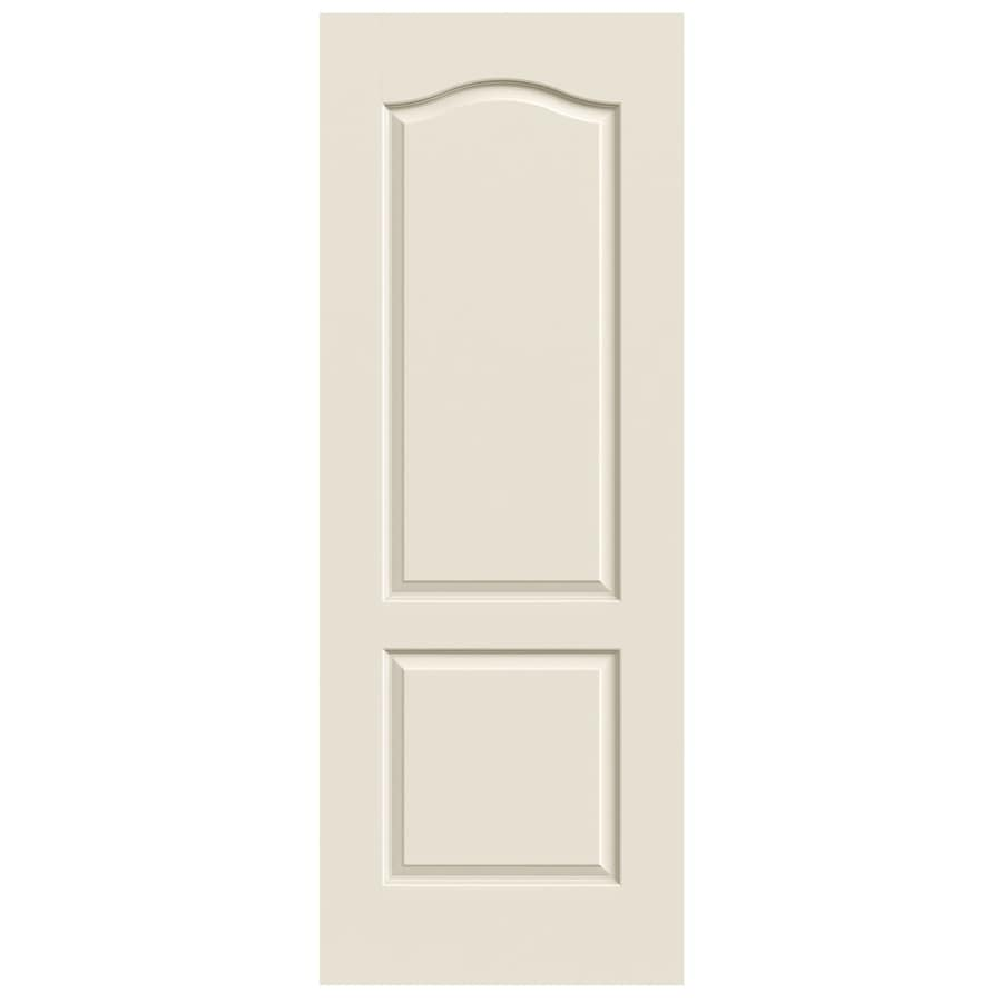 JELD-WEN Princeton (Unfinished) Solid Core 2-Panel Arch Top Slab Interior Door (Common: 30-in x 80-in; Actual: 30-in x 80-in)