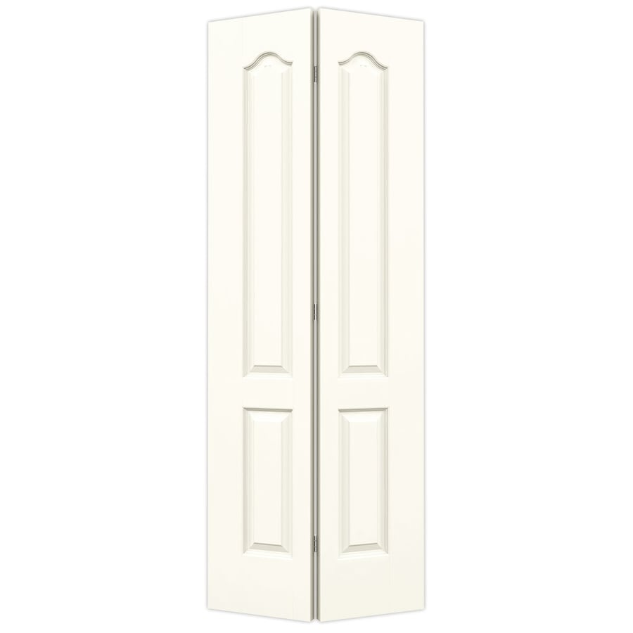 JELD-WEN White Hollow Core 2-Panel Arch Top Bi-Fold Closet Interior Door (Common: 30-in x 80-in; Actual: 29.5-in x 79-in)