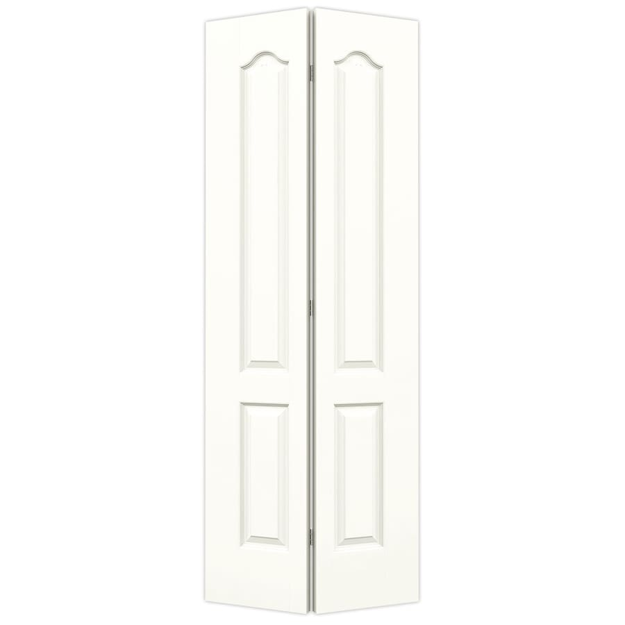 JELD-WEN Snow Storm Hollow Core 2-Panel Arch Top Bi-Fold Closet Interior Door (Common: 28-in x 80-in; Actual: 27.5-in x 79-in)