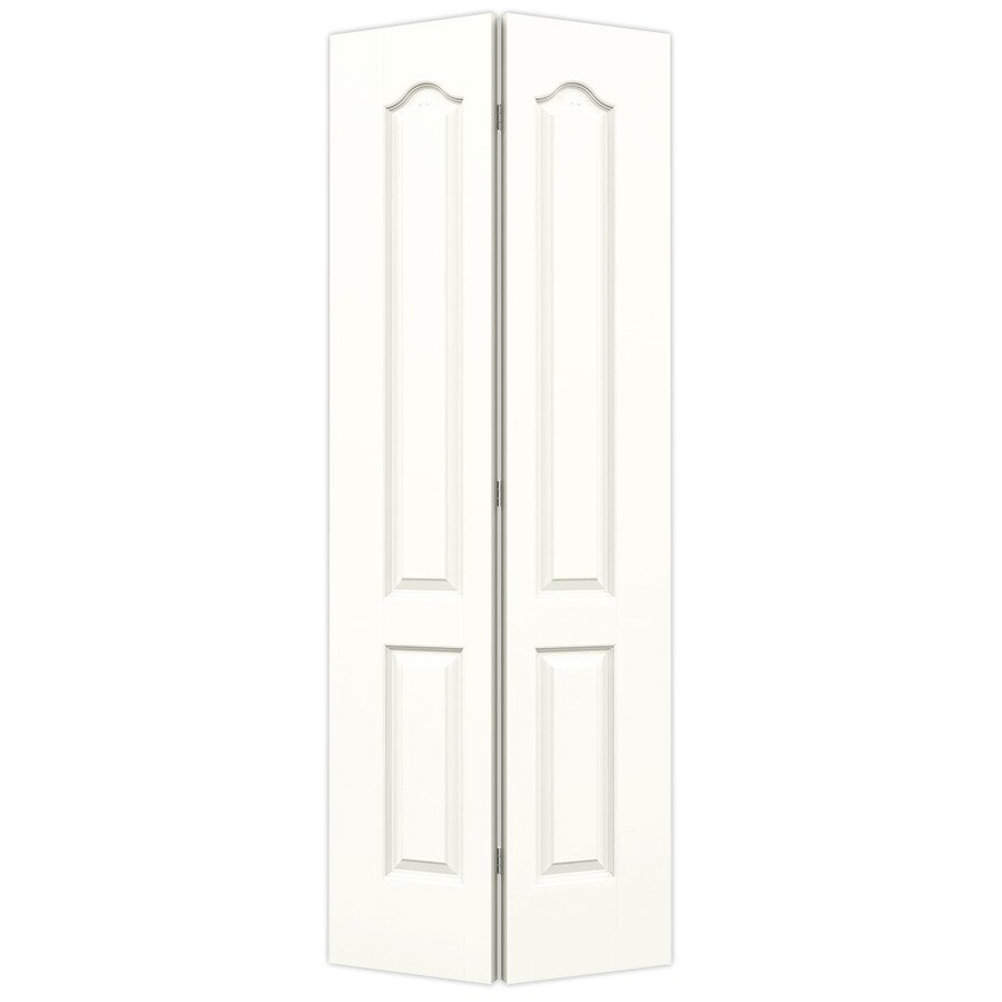 JELD-WEN Snow Storm Hollow Core 2-Panel Arch Top Bi-Fold Closet Interior Door (Common: 36-in x 80-in; Actual: 35.5-in x 79-in)