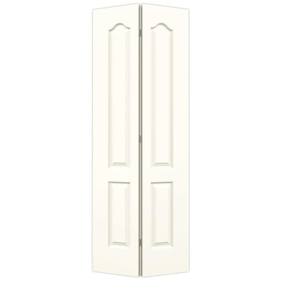 JELD-WEN Moonglow Hollow Core 2-Panel Arch Top Bi-Fold Closet Interior Door (Common: 24-in x 80-in; Actual: 23.5-in x 79-in)