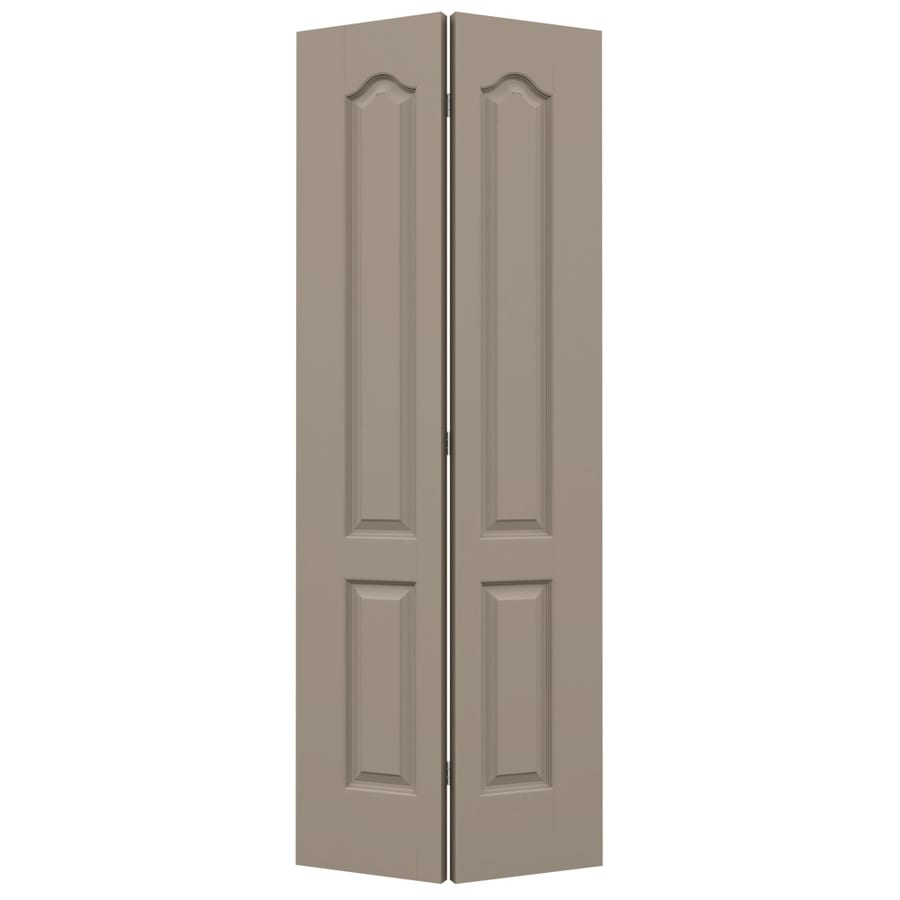 JELD-WEN Sand Piper Hollow Core 2-Panel Arch Top Bi-Fold Closet Interior Door (Common: 36-in x 80-in; Actual: 35.5-in x 79-in)