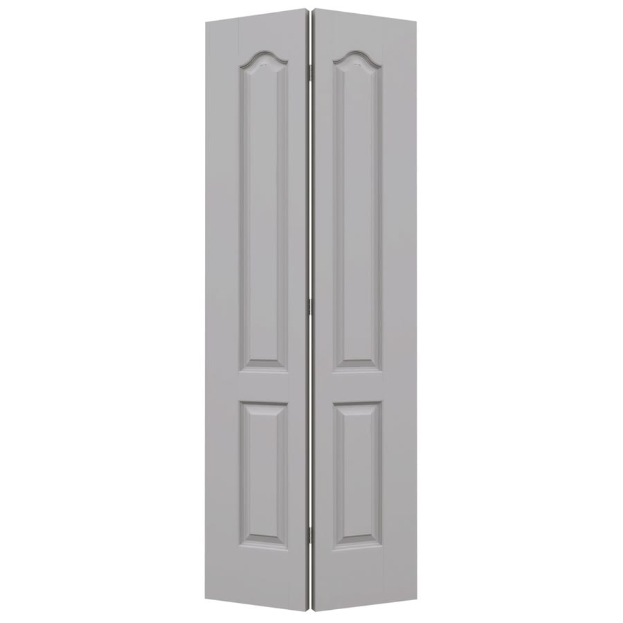 JELD-WEN Driftwood Hollow Core 2-Panel Arch Top Bi-Fold Closet Interior Door (Common: 28-in x 80-in; Actual: 27.5-in x 79-in)