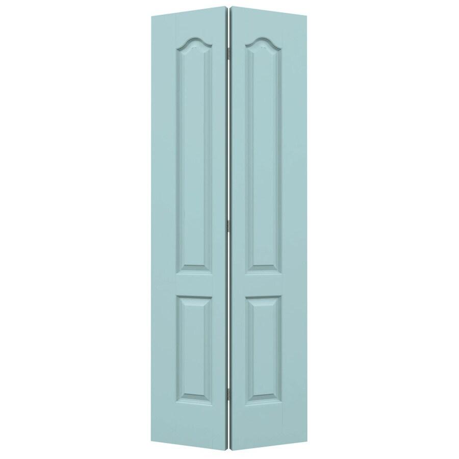JELD-WEN Sea Mist Hollow Core 2-Panel Arch Top Bi-Fold Closet Interior Door (Common: 24-in x 80-in; Actual: 23.5-in x 79-in)
