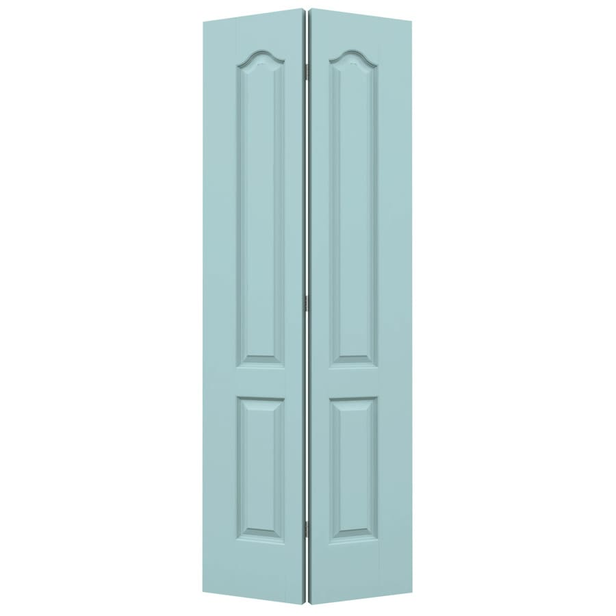 JELD-WEN Princeton Sea Mist Bi-Fold Closet Interior Door (Common: 28-in x 80-in; Actual: 27.5000-in x 79-in)