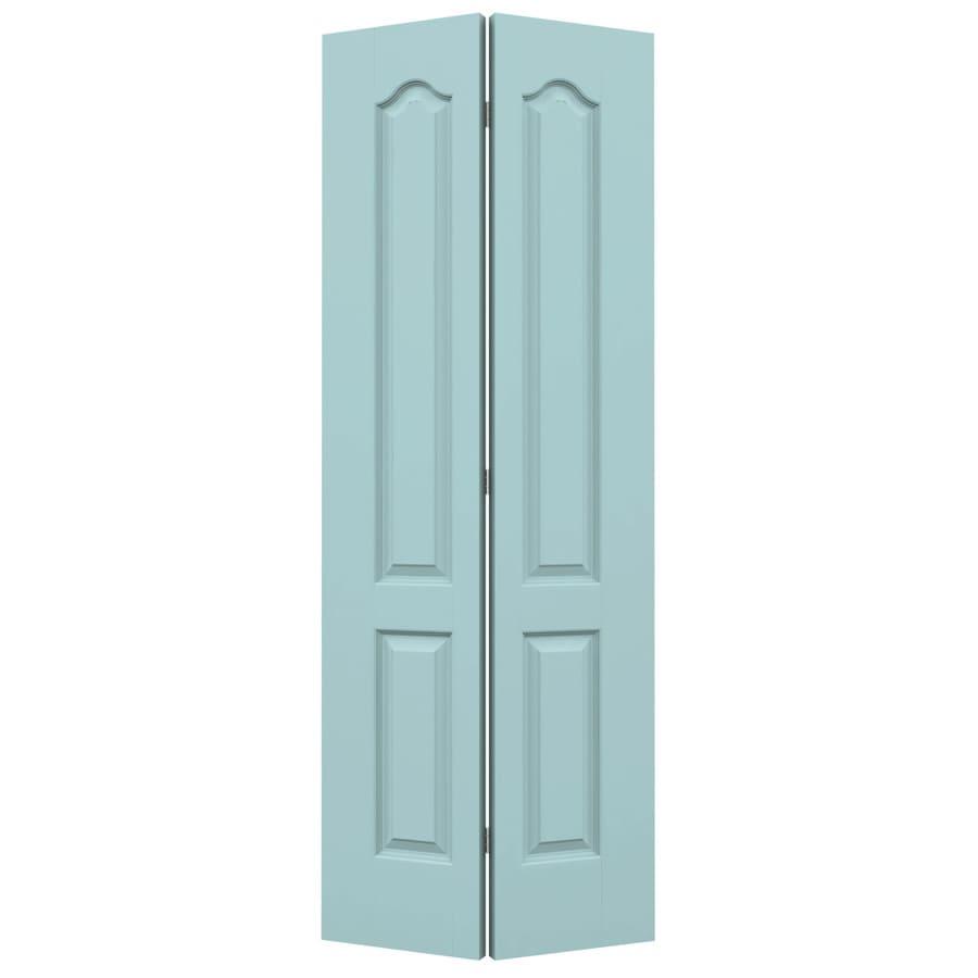 JELD-WEN Sea Mist Hollow Core 2-Panel Arch Top Bi-Fold Closet Interior Door (Common: 36-in x 80-in; Actual: 35.5-in x 79-in)