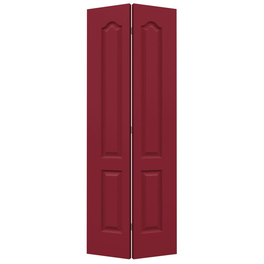JELD-WEN Barn Red Hollow Core 2-Panel Arch Top Bi-Fold Closet Interior Door (Common: 24-in x 80-in; Actual: 23.5-in x 79-in)