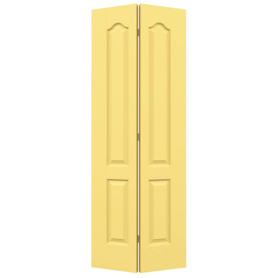 JELD-WEN Marigold Hollow Core 2-Panel Arch Top Bi-Fold Closet Interior Door (Common: 24-in x 80-in; Actual: 23.5-in x 79-in)