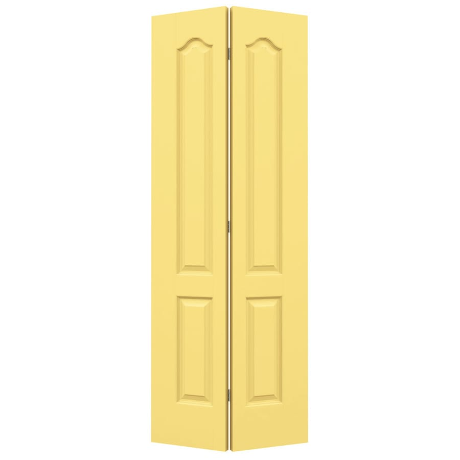 JELD-WEN Marigold Hollow Core 2-Panel Arch Top Bi-Fold Closet Interior Door (Common: 30-in x 80-in; Actual: 29.5-in x 79-in)